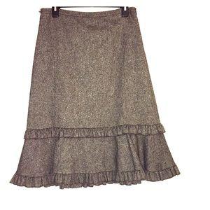 Vintage Ruffled Skirt by LOFT Size 6